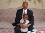 Landon Tyson and his 'PAPA' Louis Hall getting ready for church